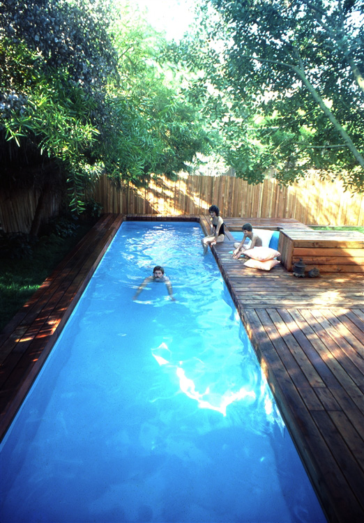 The stevenson projects lap pool spa for How to swim laps in small pool